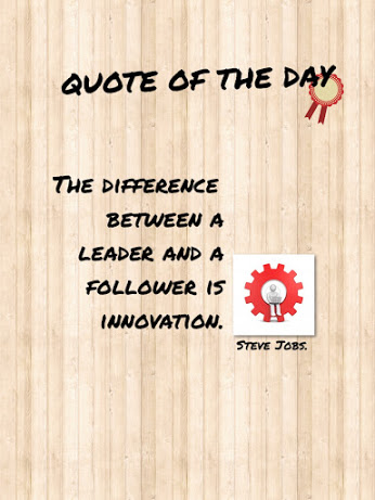 the difference between a leader and a follower is Innovation